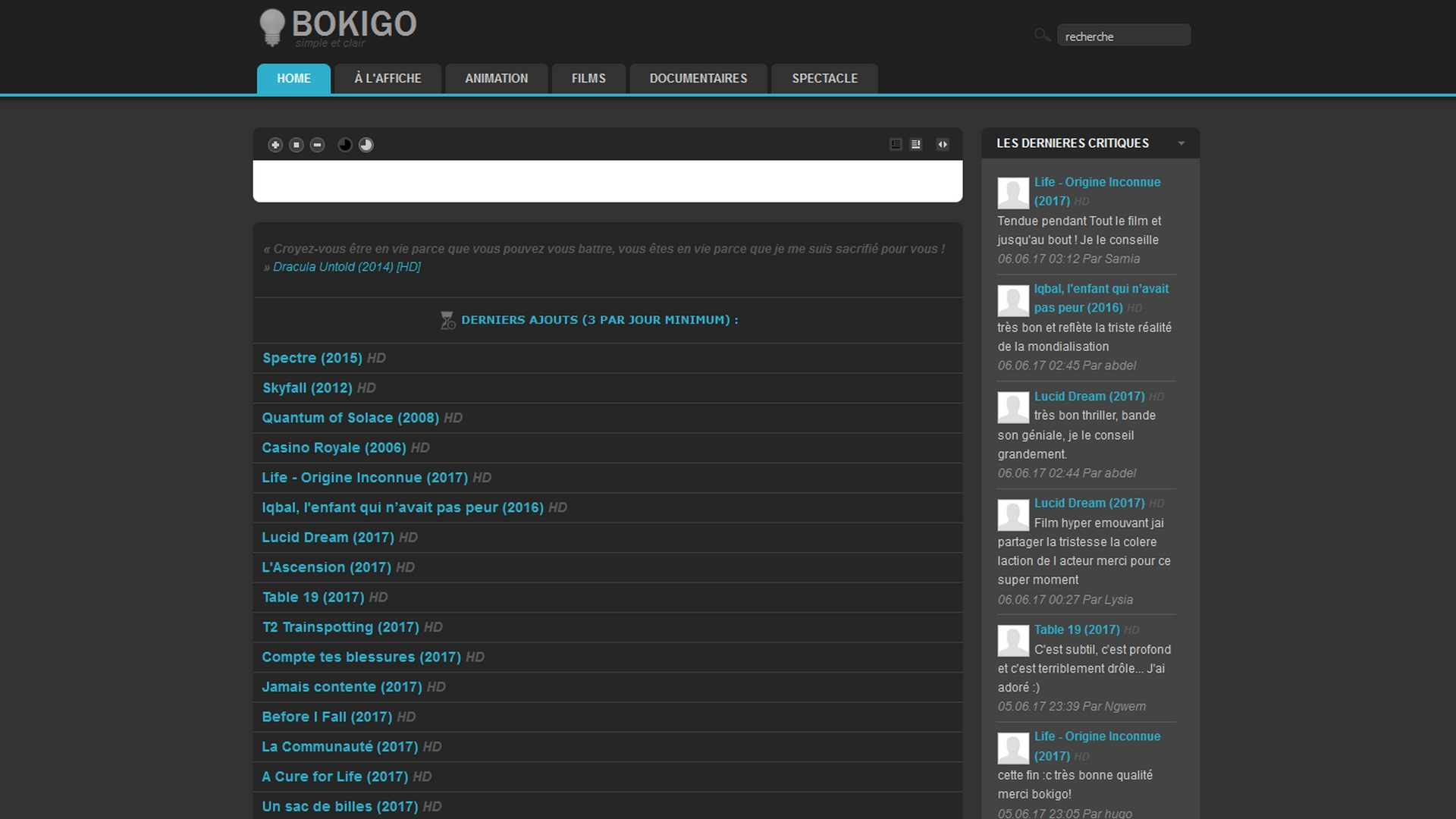 Site Bokigo streaming