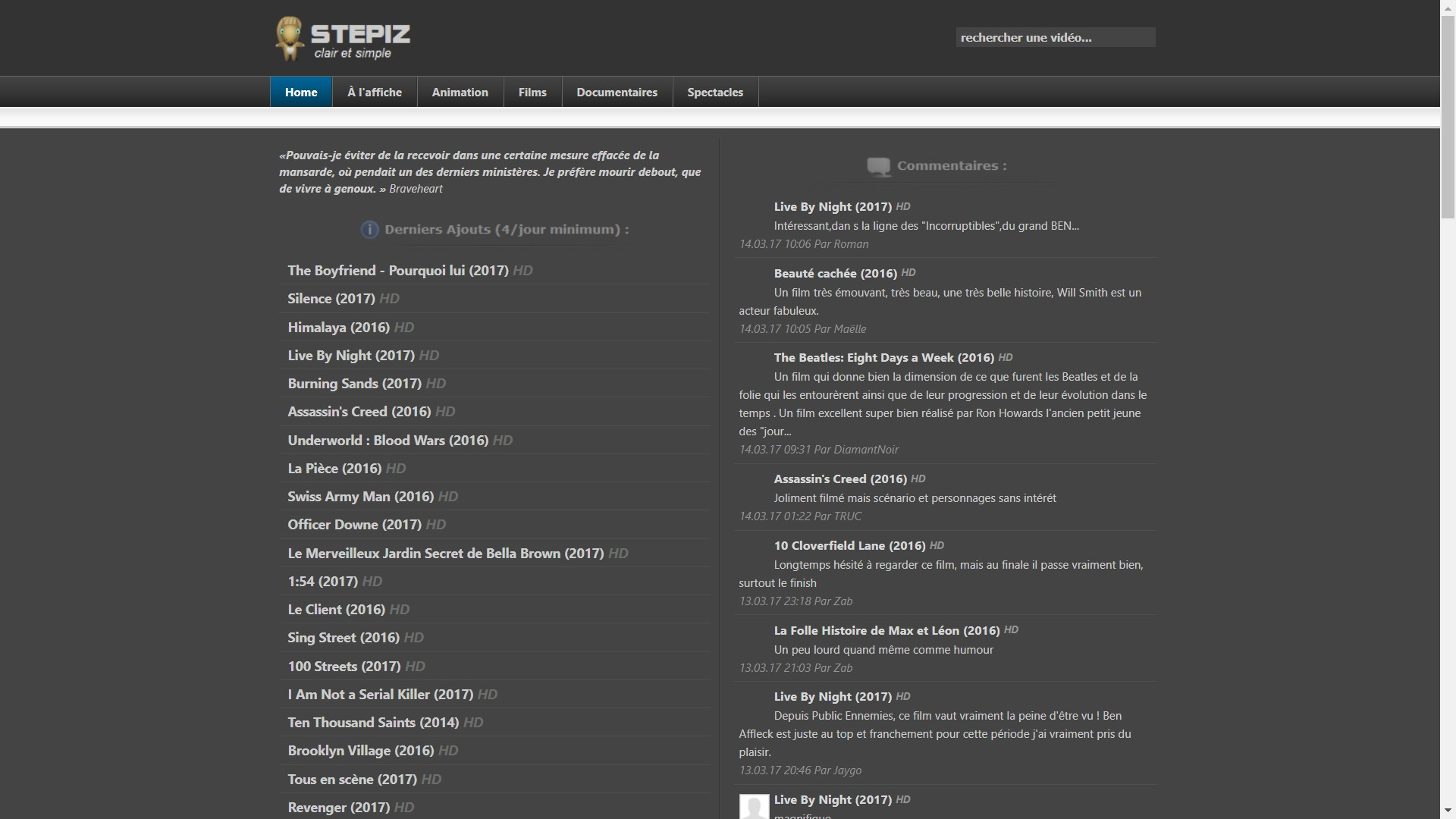 Site Stepiz streaming